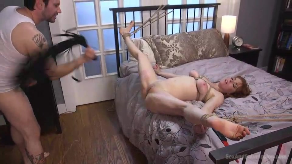 Tied Redhead Can Fit A Hand Inside Her Pussy With A Dick -8680