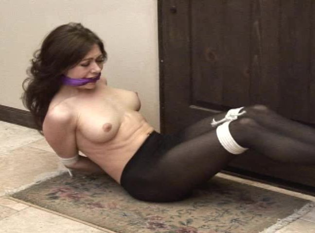 Women tied up in pantyhose