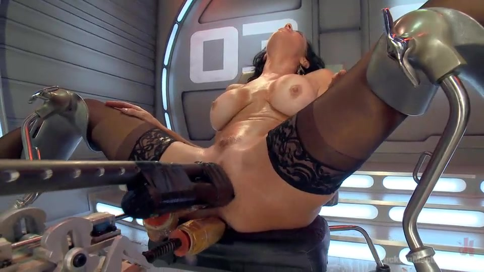 Milf Hardcore Squirts From Machine Giant Dildo Fucking-2111