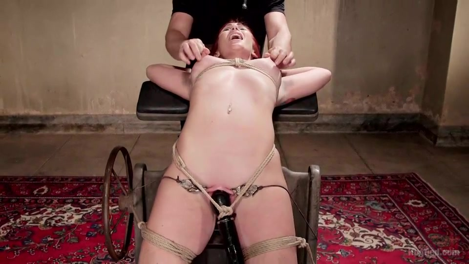 Forced Vibrator And Nipple Stretching For A Pink Skinned Redhead