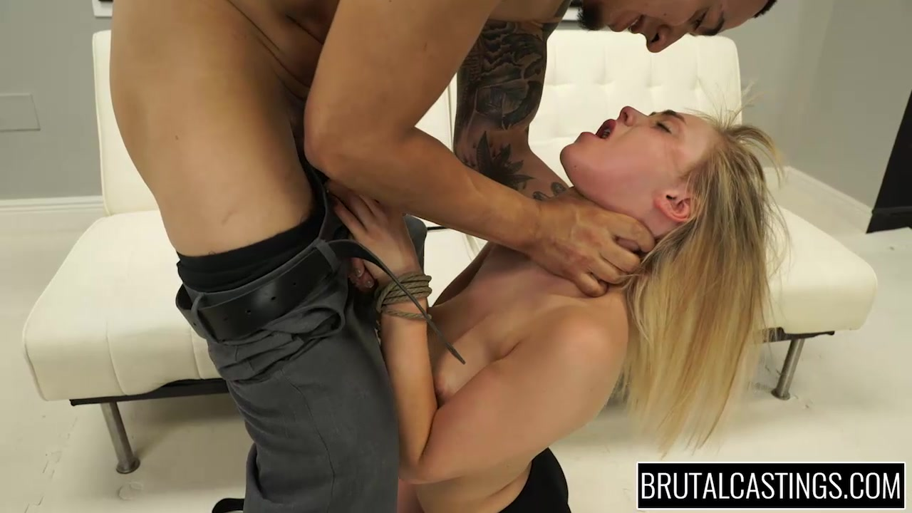 Choking girl fuck boss