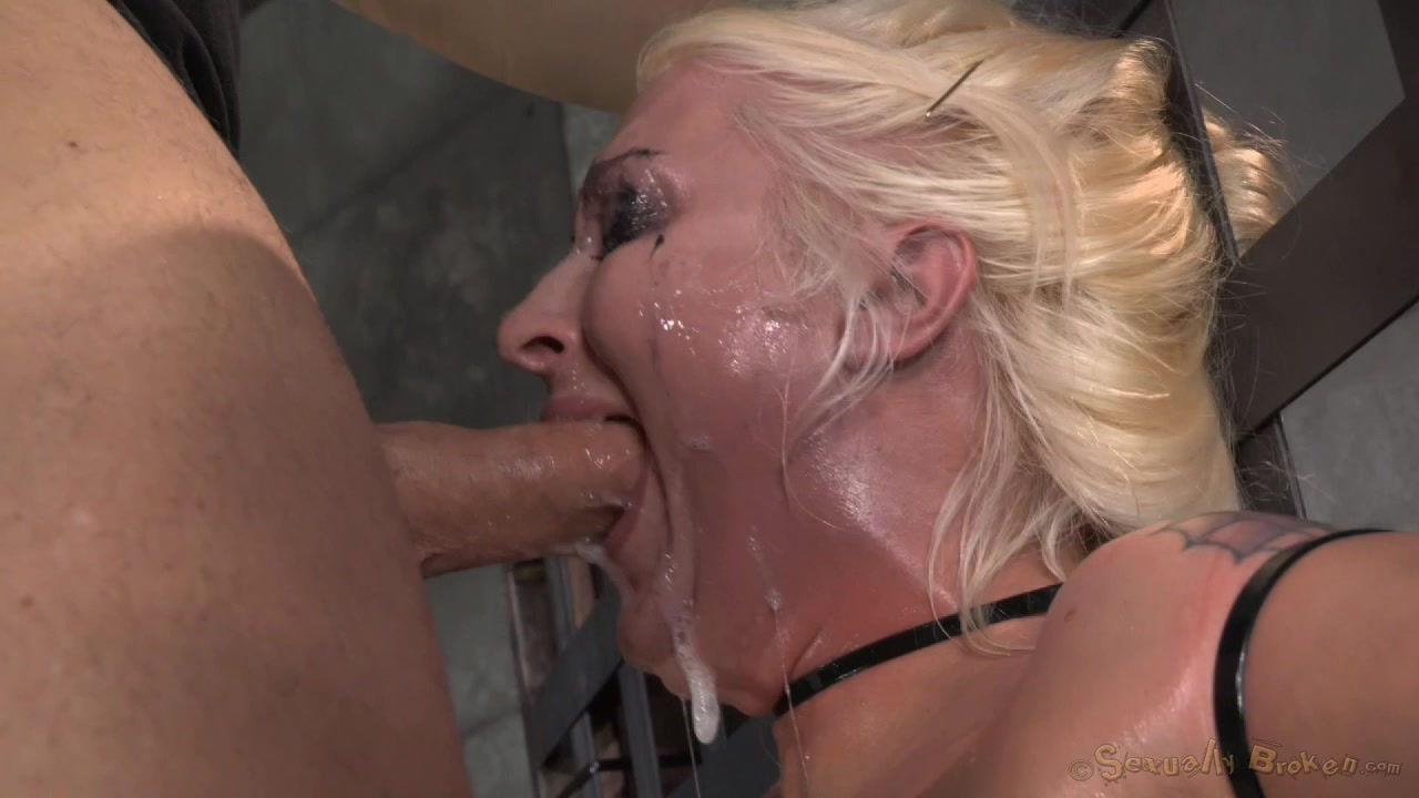 Oiled Big Tit Milf Sitting On A Sybian, Facefucked With Tears-3635