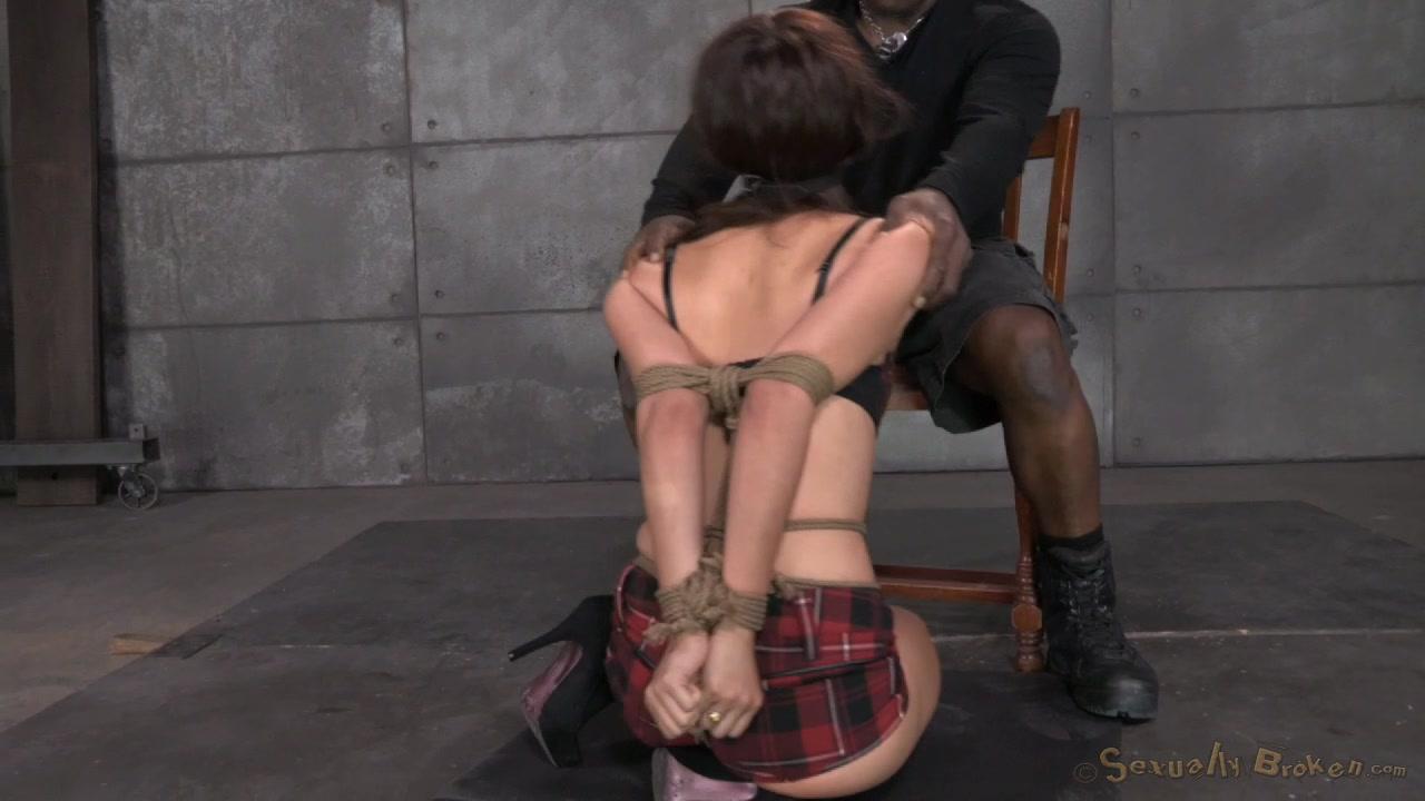Stunning Hogtied Asian Hooker Performs An Interracial Blowjob-7210